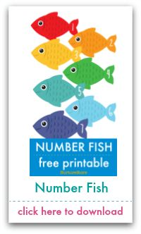 NurtureStore's Free Printables and Resources - NurtureStore Free Printable Numbers, Templates Printable Free, Free Printables, Feed The Monster, Fish Template, Math Numbers, Colorful Fish, Worksheets For Kids, Colors