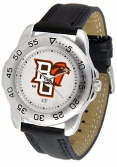 Bowling Green Falcons BG NCAA Mens Leather Sports Watch by SunTime. $42.73. Leather Band-Scratch Resistant Crystal. Men. Officially Licensed Bowling Green State Falcons Men's Workout Sports Watch. Adjustable Band. Calendar Function With Rotating Bezel. This handsome eye-catching Mens Sport Watch with Leather Band comes with a genuine leather strap. A date calendar function plus a rotating bezel/timer circles the scratch-resistant crystal. Sport the bold colorful high quality lo...