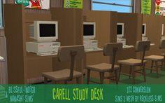 In the Hills of Indigo Blue, Blissful-Indigo & Nanashi-sims' Carrel Study Desk...
