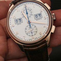 """""""IWC Watches Portugieser Perpetual Calendar Digital Date-Month Watch Hands-On - by Ariel Adams see all the pretty pictures and get the prices: http://www.ablogtowatch.com/iwc-portugieser-perpetual-calendar-digital-date-month-watch-hands/ """"As part of the 75th Anniversary of the Portuguese, ahem, I mean """"Portugieser"""" watch, IWC has added this Portugieser Perpetual Calendar Digital Date-Month watch to the family of popular dressy, yet also casual, yet also retro-sporty timepieces. Available in…"""