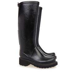 Tall Black Rubber Wellington Boot