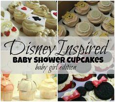 Disney Inspired Baby Shower (or Birthday!!!) Cupcakes For Girls