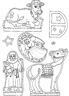 Printable Nativity Template