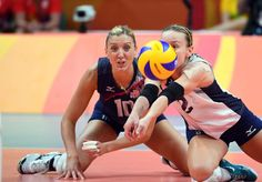 Kayla Banwarth of the United States gets low to dig a ball l against Netherlands in the women's volleyball bronze medal match at the Rio 2016 Summer Olympic Games at Maracanazinho    -  Best images from Aug. 20 at the Rio Olympics