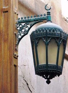 Wrought Iron street light in Dubai