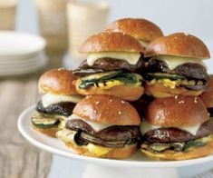 mini portobello burgers