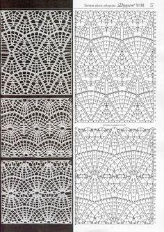 "Photo from album ""Дуплет on Yandex. Crochet Fabric, Crochet Books, Thread Crochet, Crochet Motif, Crochet Designs, Crochet Lace, Crochet Stitches Chart, Crochet Diagram, Knitting Stitches"
