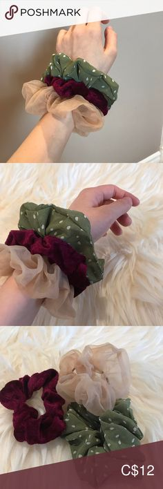 Hair scrunchie set Excellent condition Accessories Hair Accessories Plus Fashion, Fashion Tips, Fashion Trends, Scrunchies, Christmas Wreaths, Women Accessories, Holiday Decor, Things To Sell, Design