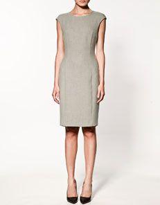 Nice basic dress. a blazer to go with it.