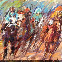 Arkansas Derby, horse races, art by Sean Shrum