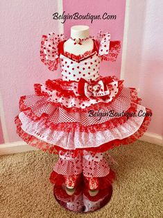 Pageant Valentine OOC Sassy Ruffles Dress by BelginBoutique Glitz Pageant, Pageant Wear, Baby Pageant, Ruffles, Ruffle Dress, Little Girl Dresses, Girls Dresses, Toddler Pageant Dresses, Party Dresses