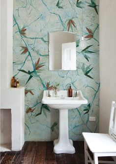 Madabout Interior Design Wallpaper In The Bathroom Wet System Collection By Wall Deco