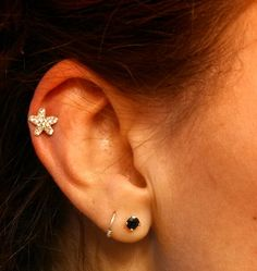Tiny Crystal Starfish 316L Surgical Steel Cartliage Earring Tragus Helix Piercing on Etsy, $12.50
