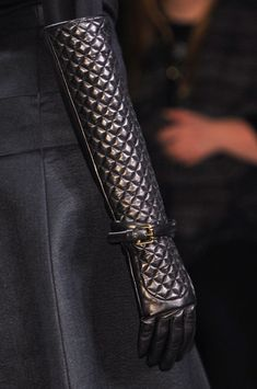 Daks at London Fall 2014 (details) Awesome dark gloves, goth, punk, modern assassin