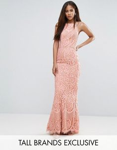 Get this Jarlo Tall's cotton dress now! Click for more details. Worldwide shipping. Jarlo Tall Allover Lace High Neck Maxi Dress - Pink: Tall dress by Jarlo, Lined lace, High neck, Fishtail hem, Zip fastening, Close-cut bodycon fit, Dry clean, 100% Polyester, Our model wears a UK 8/EU 36/US 4 and is 180cm/5'11 tall, Exclusive to ASOS. Jarlo started life on a stall on London's famous Portobello Road. A celebration of all things beautiful and nostalgic, Jarlo Tall plays with proportions across…