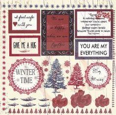 """Papier """"Winter Letters"""""""