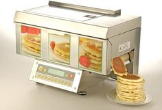 ChefStack Automatic Pancake Machine. Now only if they would do this as a Waffle machine.