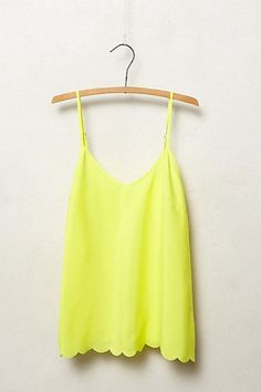 summertime tank. classic, yellow tank to go with anything, shorts, jeans, skirt