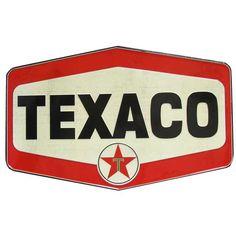 Texaco Vintage Die Cut Embossed Tin Sign