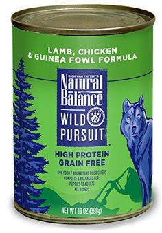 Natural Balance Wild Pursuit Canned Dog Food, 13-Ounce, Set of 12
