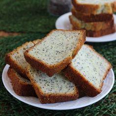 Moist Lemon Poppy Seed Cake has a little zing of sweet lemon freshness.  It looks like a bread but tastes like a cake. image