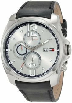 Tommy Hilfiger Men's 1790833 Sport Stainless Steel and black strap with Multifunction dial Watch Tommy Hilfiger. Save 3 Off!. $159.84. Stainless steel case. Quartz movement. Black leather strap. Stainless steel bezel. Durable mineral crystal