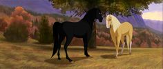 Strider and Esperanza, Spirits sire and dam. Spirit Horse Movie, Spirit The Horse, Spirit And Rain, Spirit Der Wilde Mustang, Wilde Mustangs, Horse Animation, Horse Movies, Horse Story, Indian Horses