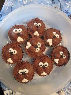 groundhog birthday cake | Groundhog Cupcakes