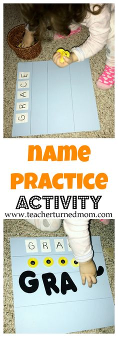 Name recognition and practice is so important to teach young children. This activity helps teach kids how to practice spelling their name and so much more!