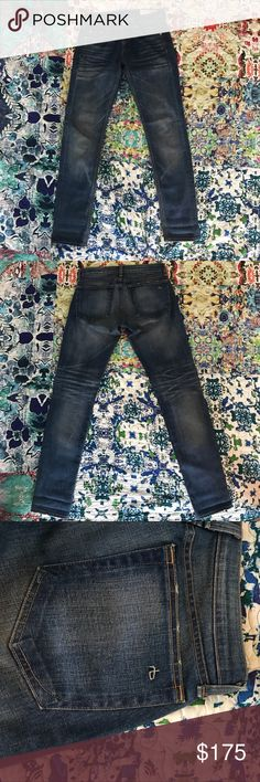 """Rag and Bone Dre slim boyfriend jeans in Bradford Rag and Bone The Dre slim boyfriend Jean in Bradford wash. 98% cotton, 2% poly, distressed whispering on upper part and behind knees. Size 25 waist, made in the USA, no flaws, never been washed. Fray on ankles intentional. Look cute rolled up at the ankle. 30"""" inseam, 8.5"""" rise. Bought at Neiman Marcus Cherry Creek in Denver. rag & bone Jeans Boyfriend"""
