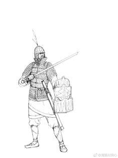 大漢武士 Chinese Han dynasty warrior #hanfu Chinese Armor, Guan Yu, Dynasty Warriors, Arm Armor, Ancient China, Knight, Medieval, Darth Vader, Military