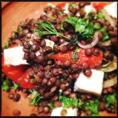 Du Puy Lentils with Tomatoes and Feta | Salads | Ottolenghi | A Life Time of Cooking