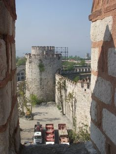 Along the Theodosian Walls of Constantinople
