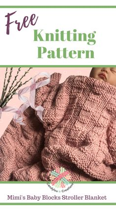 A simple checkerboard blanket that is reversible! Stroller sized instructions easily adapted to larger sizes. Knitting For Kids, Knitting For Beginners, Free Knitting, Knitting Projects, Knitting Ideas, Crochet Projects, Dishcloth Knitting Patterns, Knitted Afghans, Knitted Baby Blankets