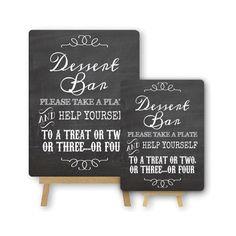 Dessert Bar Chalkboard Effect Metal Table Sign by PurpleScrunch