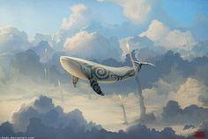 Tribal Sky whale :: Dreamkiller by RHADS