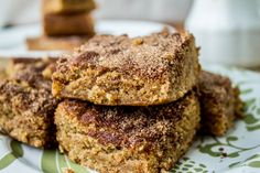 These rich and soft Snickerdoodle Blondies use all brown sugar to get that chewy flavor we all love. The crackly cinnamon sugar topping is the best part!