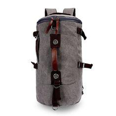 Large Capacity Travel Bags Backpack Satchel School Rucksack Men Big Size Vintage Canvas Backpack Bucket Bag Shoulder Bag