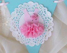 Ombre Ballerina Tutu Cupcake Toppers Birthday Decoration