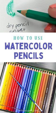 Watercolor Pencils Techniques, Watercolor Pencil Art, Colored Pencil Techniques, Watercolor Tips, Pencil Painting, Watercolour Tutorials, Paint Techniques, Watercolor Projects, Watercolour Painting