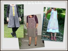 Monatge apron dress from HS Sewing from HS Sewing is Easy 4  refashion men's shirts?