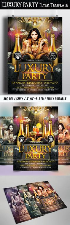 Funky Vibes Party Club Flyer Template Club flyers, Flyer - party flyer template
