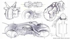 How Tron: Legacy Light Cycle Designers Made the Sexiest, Coolest Vehicle Ever Tron Legacy, Bike Sketch, Car Sketch, Tron Light Cycle, Tron Bike, Motorbike Design, Drawing Sketches, Drawings, Sketching