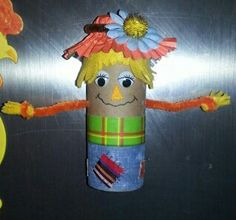 Paper roll scarecrow