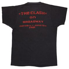 The Clash Sandista Tour Shirt 1981 The Clash Band, Clash On, Skinhead, Band Tees, Punk, Tours, Sleeves, Mens Tops, T Shirt
