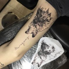 Wolf tattoo by Jonatas Araujo