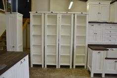 Milestone Kitchens Swedish Style Units. 4 x Recipe Book Stands. A lovely idea for a book shelf.  milestonekitchens.co.za