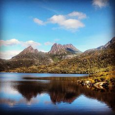 Cradle Mountain reflected on Dove Lake in Tasmania.. #Australia  by danielleprowse (instagram)