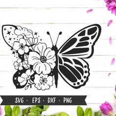 Butterfly Mandala, Butterfly Drawing, Butterfly Flowers, Cricut Craft Room, Cricut Vinyl, Cricut Svg Files Free, Bullet Journal Banner, Flower Svg, Quilling Designs
