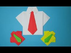 How to make a Paper Shirt and Tie | Easy Origami Making | DIY Ideas
